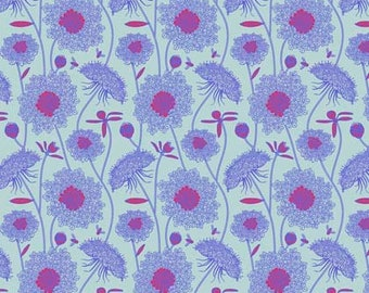 Anna Maria Horner Fabric, Sweet Dreams, LACEY PERIWINKLE, Shabby Chic Fabric, Floral Fabric, Cotton Fabric, Quilt, Quilting, By the Yard