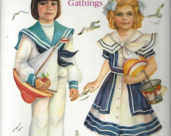 Vintage Old-Fashioned Children by Evelyn Gathings Paper Dolls, C1989