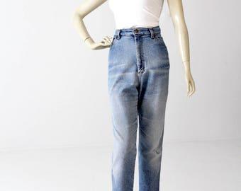 vintage Lee high waist jeans, 80s denim jeans