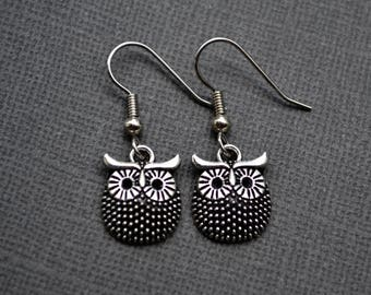 Silver Owls . Earrings