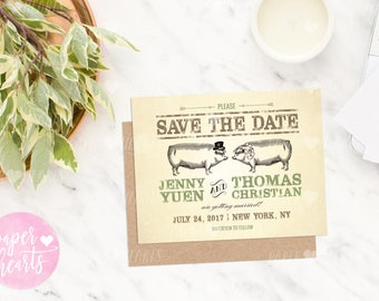 Save the Date - Pig Roast, Hog Roast, I Do BBQ Wedding