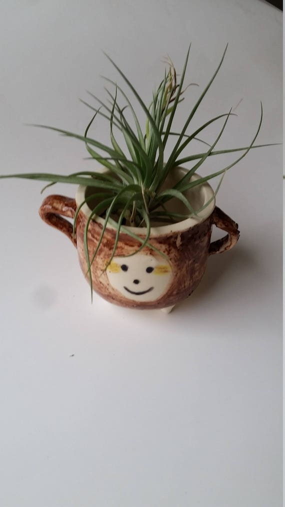 Pottery Planter  Sloth or Pineapple girl 3 inches high  for succulents and airplants