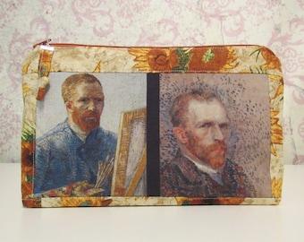 Van Gogh Zipper Pouch // Post-Impressionism, Sunflowers, Travel Pouch