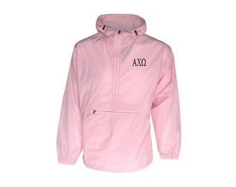 Alpha Chi Omega Unlined Anorak (Pink)