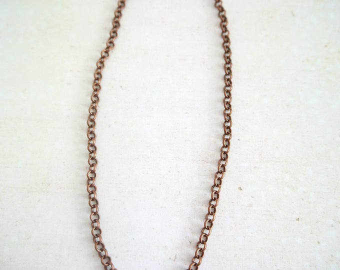 short antique copper necklace
