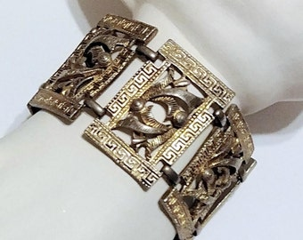 Bracelet Sterling Silver Russian Circa 1980s Panel Links