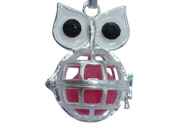 YOur perSOnal STYlish Essential oil necklace diffuser Steampunk Big eyes owl d1 0