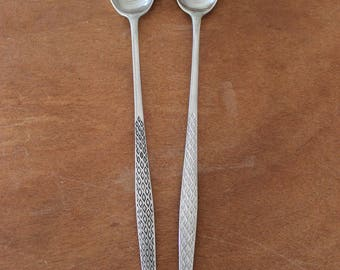 Mid Century JHQ Designs Germany, Salad Spoons, Egg Spoon, Extra Long Spoons, Dansk, Mid Century