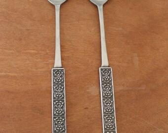 Velvet By Stanley Roberts Made in Japan Stainless, Salad Spoons, Vintage Utensils, Spork