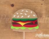 Cheeseburger Photo-Booth Prop | Hamburger Prop | Burger Decorations | Burger Centerpiece