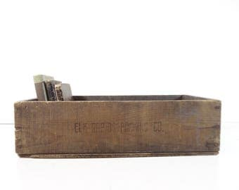 Vintage Wood Crate / Industrial Decor