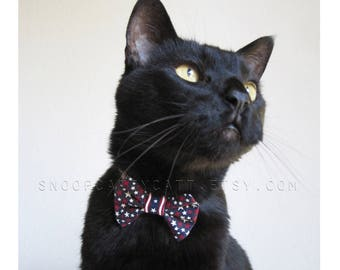 Cat Bow Tie - Star Spangled