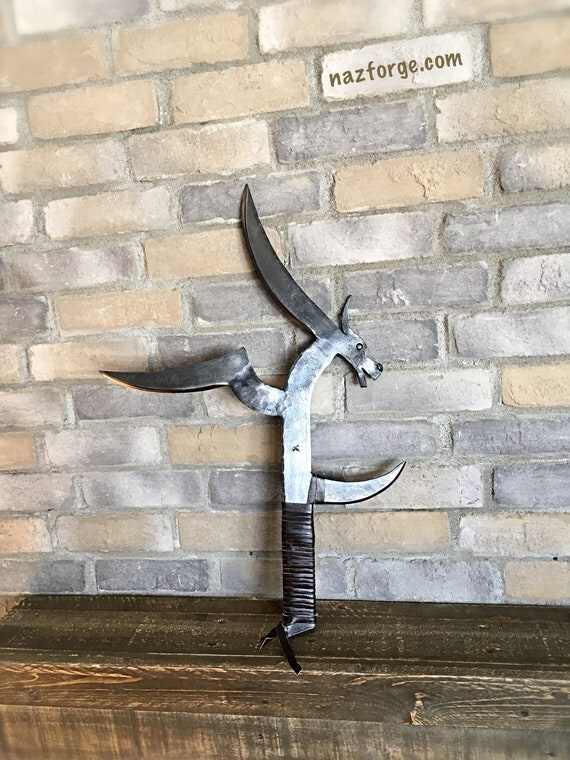 Reserved Listing for Joanne - Hunga Munga Decoration Knife with Dragon Head Feature - Naz Forge