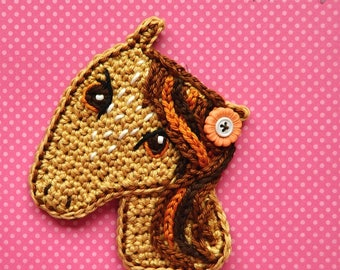 Crochet pattern - Crochet Horse applique by VendulkaM / DIY, pdf / Ornament / Decoration