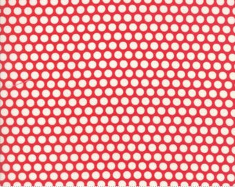 Bonnie & Camille BASICS Collection, Bliss Dot Ruby Red, 55023 31, Moda Fabric, Sold In Half Yard Amounts