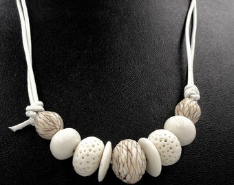 Porcelain Contrasts Necklace