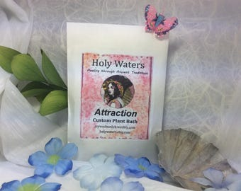 Attraction Custom Herbal Plant Spiritual Bath Hoodoo Voodoo Wicca