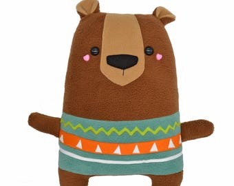 Artist bear plushie soft toy soft toy honey plush toy handmade pillow cushion plusheez teddy bears stuffed animal kawaii cute cuddly