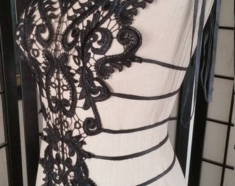 Couture Black Lace Top