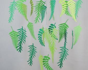 Green Fern Mobile, Leaf Mobile