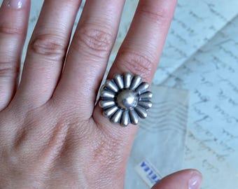 Fred Harvey Style Vintage Native American Ring - Adjustable