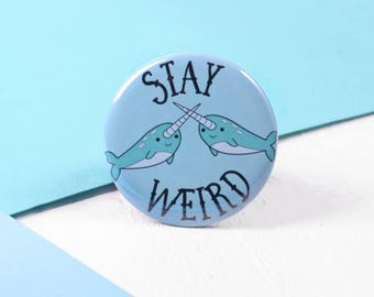 Narwhal Pocket Mirror / Stocking Filler / Cute Stocking Filler / Stocking Filler Gift Idea For Her / Secret Santa Gift / Funny Gift
