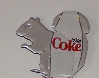 SQUIRREL Magnet - Diet Coke Coca-Cola Soda Can