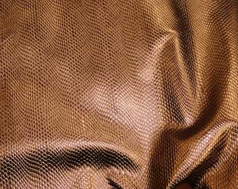 "Leather 12""x12"" NEW BRONZE Metallic Print Amazon Cobra Cowhide 2.5-2.75 oz / 1-1.1 mm PeggySueAlso™ E2846-17"