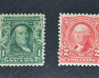 US stamps 1902 #300 #301 both mint MNH F- FV catalogue value  thirty five dollars