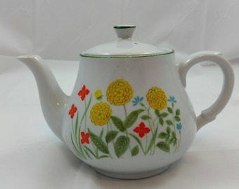 Floral Retro Teapot, Teapot Vintage Japan Floral, Tea Party