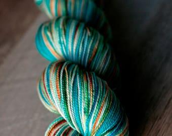 "Sock yarn - 100% SW Merino - Autocorrect - ""Moist Aches"""