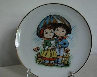 Vintage Porcelain Handpainted Plate Japan