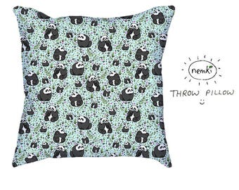 Cute Panda Pillow, Panda Home Gift, Cute Animal Pillow, Cute Panda Gifts, Gifts for Panda Lovers, Panda Birthday Gift, Panda Pattern