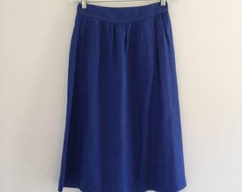 Vintage 80's Liz Claiborne Linen Skirt with Pockets M