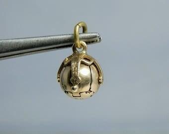 Antique 9k Gold & Sterling Silver Masonic Pendant Charm. Ball Converting to a Masonic Cross circa Edwardian Era Highly Collectible Piece
