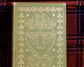Penelope's English Experiences Signed By Author 1900 Ed