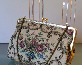 Vintage Tapestry Bag By Walborg W. Germany