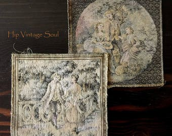 Vintage France Tapestries, Victorian French Tapestries, European Tapestry, Home Decor