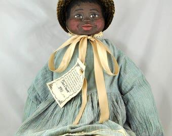 Maynard Arnett Hand Painted Doll - Sunflower 390/500 with Tag - Folk Art Style Doll