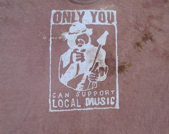 Support Local Music Bear Batik 2X-Large Shirt  #093