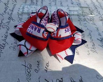 Texas Rangers hairbow