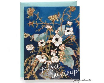 Merci Beaucoup thank you greeting card