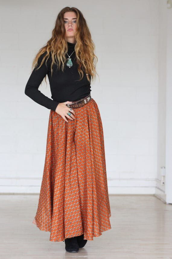 PAISLEY MAXI FLARES - Limited Edition Silk Flares - Handmade - Vintage Sari - Festival - Hippie - Retro - Wide leg - Skirt - Maxi dress