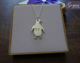 Silver Handmade Penguin - Penguin Necklace - Chunky Penguin Pendant - Personalised Penguin