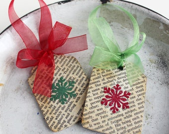 Pride and Prejudice Book Page Ornaments