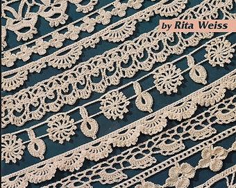 101 Crochet Edgings by Rita Weiss to Crochet Pattern Book American School of Needlework 1212