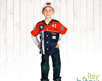 race car pit crew costume kids halloween costume personalized career day outfit kids dress up boy