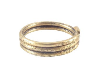 Authentic Ancient Viking Coil Ring Norse Jewelry Wedding Band, 850-1050 A.D. Size 9 3/4. 19.5mm inner diameter.(JNS301)