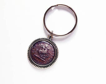 Bank of Upper Canada Key Ring, keychain, key ring, stocking stuffer, gift under 10, coin keyring, Upper Canada, Bank Token, Ontario (7735)