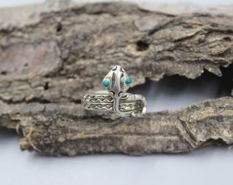 Turquoise Snake Ring Etsy